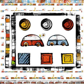 Oh Boy Kit Digital Art - Digital Scrapbooking Kits