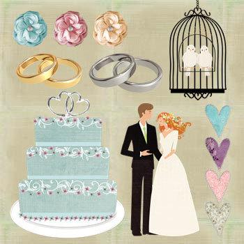 Vintage Wedding Kit Digital Art - Digital Scrapbooking Kits