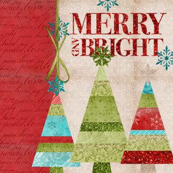 Happy Holidays Kit Digital Art - Digital Scrapbooking Kits