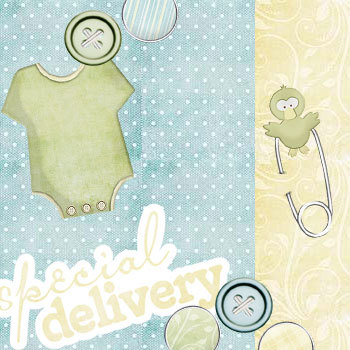 Baby Birdies Kit Digital Art - Digital Scrapbooking Kits