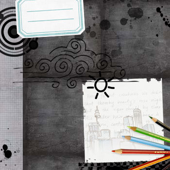 School Days Kit Digital Art - Digital Scrapbooking Kits