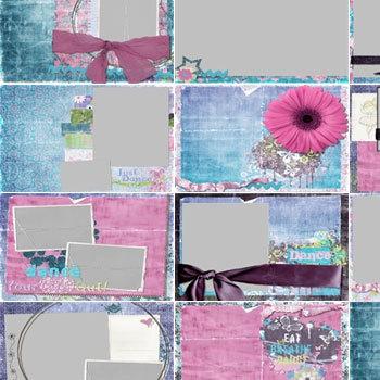Just Dance Predesigned Pages 11x8.5 Digital Art - Digital Scrapbooking Kits