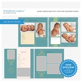 Ashby Series Baby Boy 12x12 Predesigned Pages