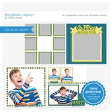 Be Young Boy 12x12 Predesigned Pages