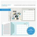 Changing Seasons Calendar 12x12 Predesigned Pages