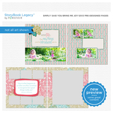 Simply Said You Bring Me Joy 12x12 Predesigned Pages