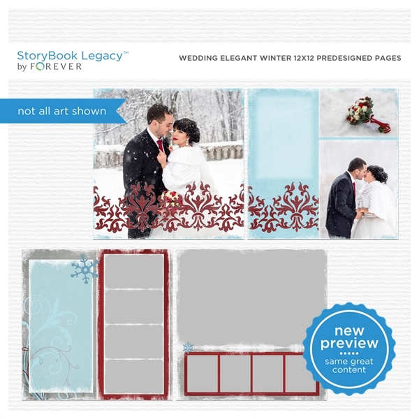 Wedding Elegant Winter 12x12 Predesigned Pages