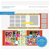 Candy Shop 11x8.5 Digital Predesigned Pages