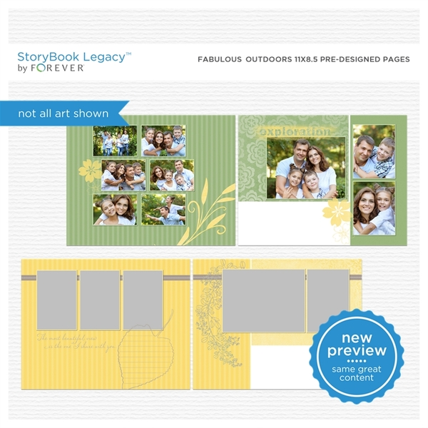 Fabulous Outdoors 11x8.5 Predesigned Pages