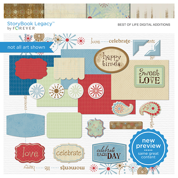 Best Of Life Digital Additions Digital Art - Digital Scrapbooking Kits
