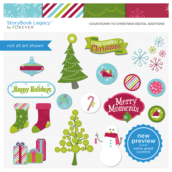 Countdown To Christmas Digital Additions Digital Art - Digital Scrapbooking Kits