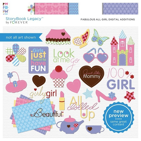 Fabulous All Girl Digital Additions Digital Art - Digital Scrapbooking Kits