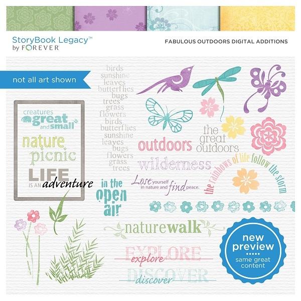 Fabulous Outdoors Digital Additions Digital Art - Digital Scrapbooking Kits