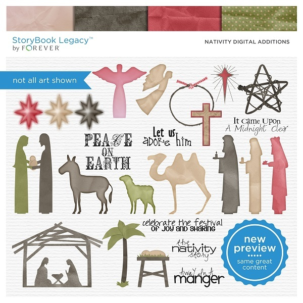 Nativity Digital Additions Digital Art - Digital Scrapbooking Kits