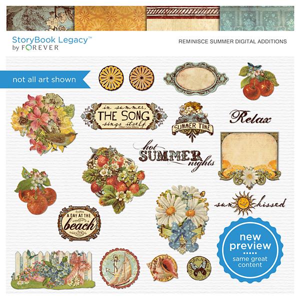 Reminisce Summer Digital Additions Digital Art - Digital Scrapbooking Kits