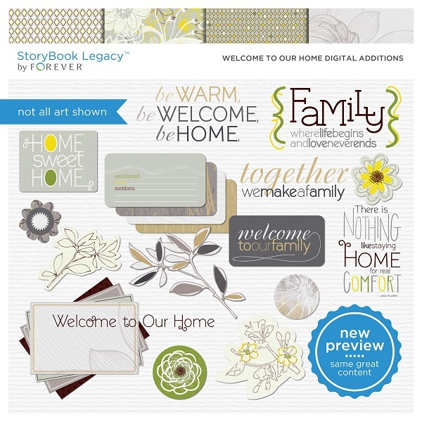Welcome To Our Home Digital Additions Digital Art - Digital Scrapbooking Kits