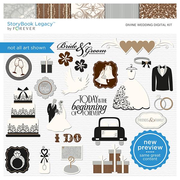 Divine Wedding Digital Kit Digital Art - Digital Scrapbooking Kits