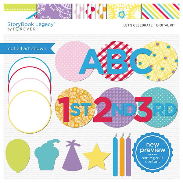 Let's Celebrate II Digital Kit Digital Art - Digital Scrapbooking Kits