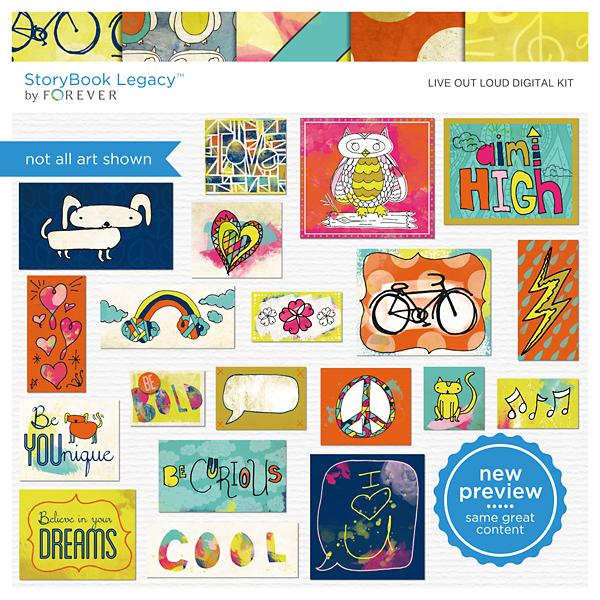 Live Out Loud Digital Kit Digital Art - Digital Scrapbooking Kits