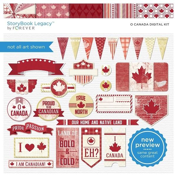 O' Canada Digital Kit Digital Art - Digital Scrapbooking Kits