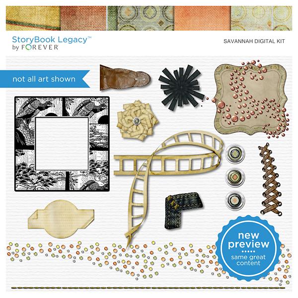 Savannah Digital Kit Digital Art - Digital Scrapbooking Kits