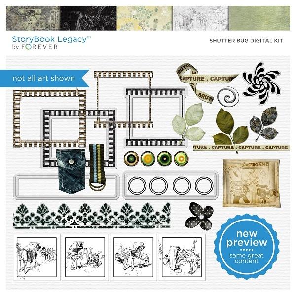 Shutter Bug Digital Kit Digital Art - Digital Scrapbooking Kits