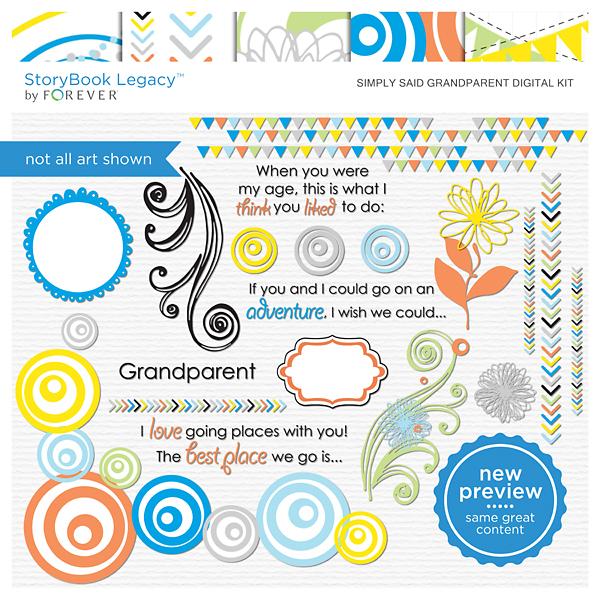 Simply Said Grandparent Digital Kit Digital Art - Digital Scrapbooking Kits