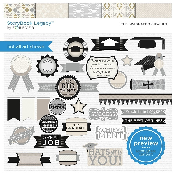 The Graduate Digital Kit Digital Art - Digital Scrapbooking Kits