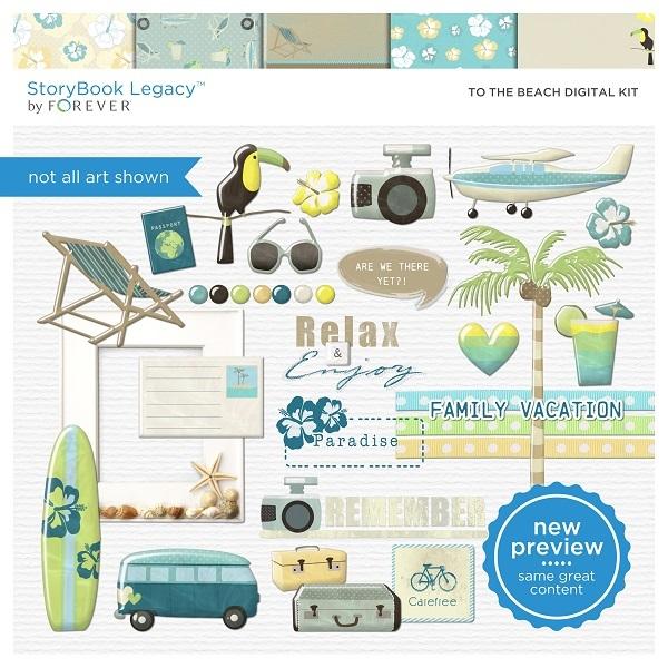 To The Beach Digital Kit