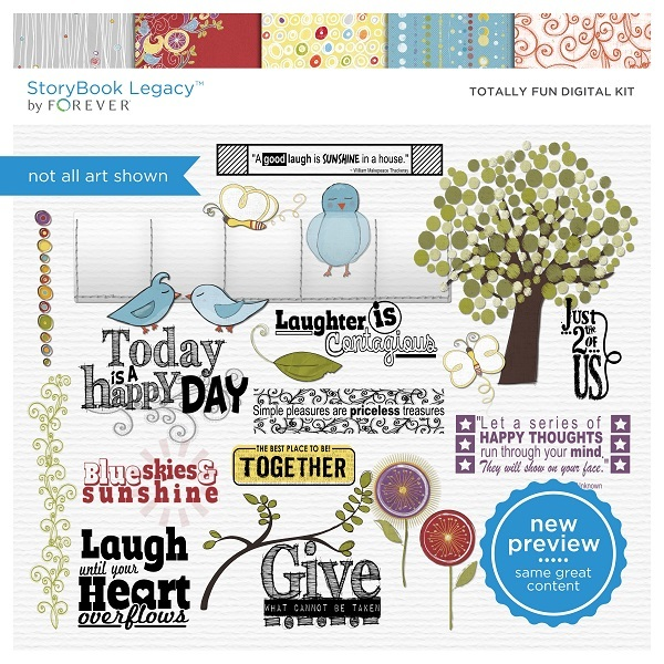 Totally Fun Digital Kit Digital Art - Digital Scrapbooking Kits