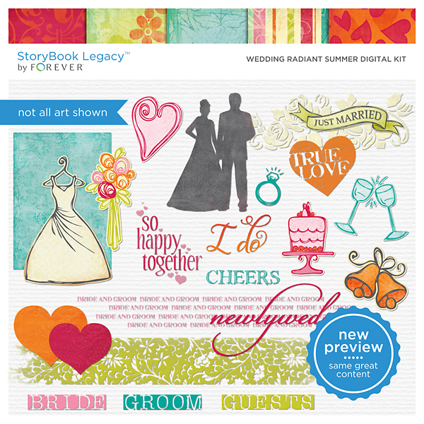 Wedding Radiant Summer Digital Kit Digital Art - Digital Scrapbooking Kits