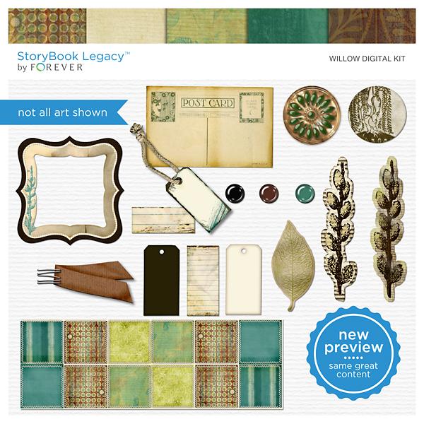 Willow Digital Kit Digital Art - Digital Scrapbooking Kits