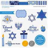 Hanukkah Digital Card Kit