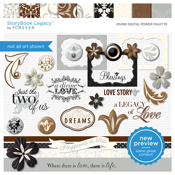 Divine Digital Power Palette Digital Art - Digital Scrapbooking Kits