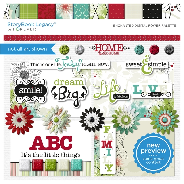 Enchanted Digital Power Palette Digital Art - Digital Scrapbooking Kits