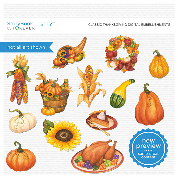 Classic Thanksgiving Digital Embellishments