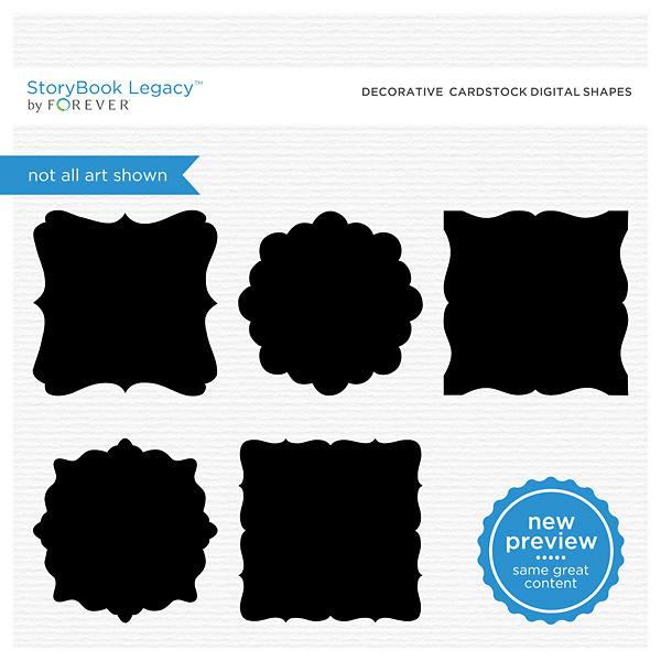 Decorative Cardstock Digital Shapes Digital Art - Digital Scrapbooking Kits