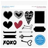 P.S. I Love You Digital Shapes