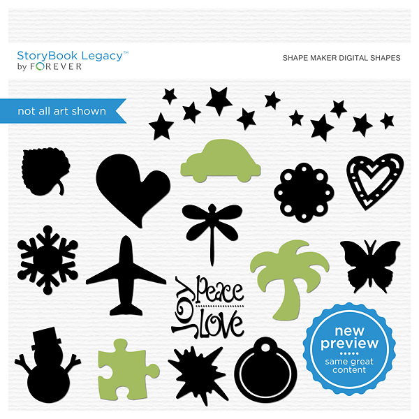 Shape Maker Digital Shapes Digital Art - Digital Scrapbooking Kits