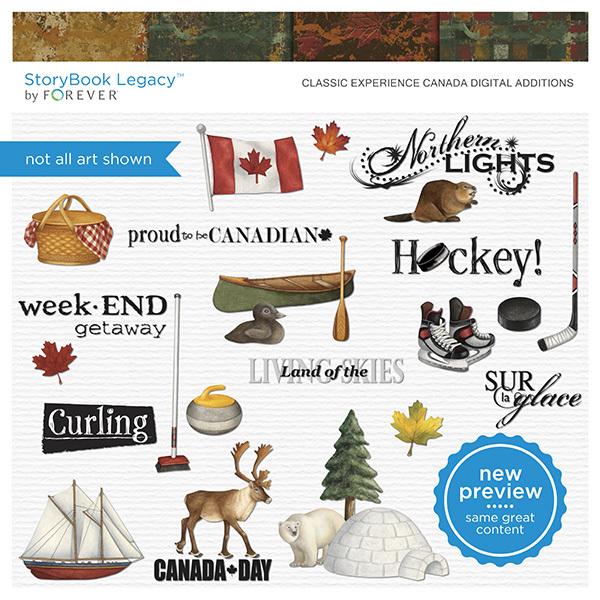 Classic Experience Canada Digital Additions Digital Art - Digital Scrapbooking Kits