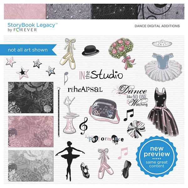 Dance Digital Additions Digital Art - Digital Scrapbooking Kits