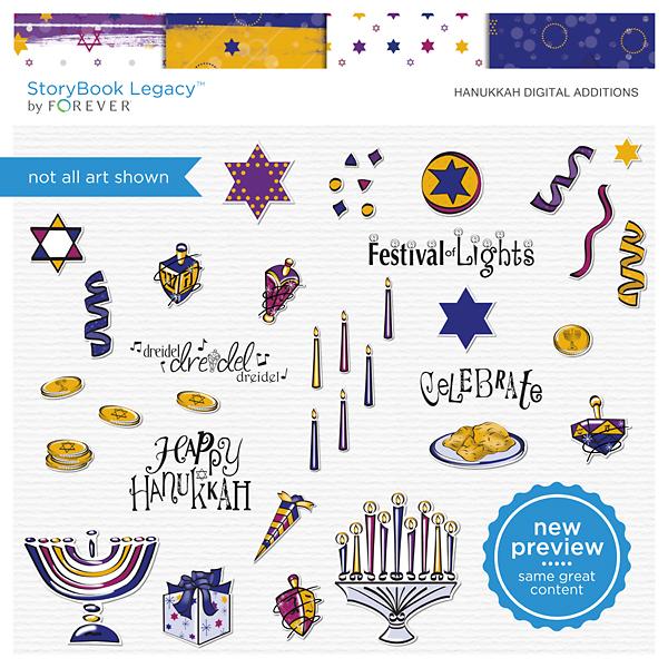 Hanukkah Digital Additions Digital Art - Digital Scrapbooking Kits
