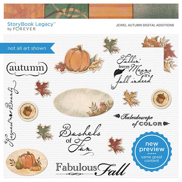 Jewel Autumn Digital Additions Digital Art - Digital Scrapbooking Kits