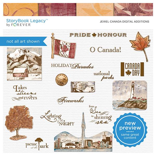 Jewel Canada Digital Additions Digital Art - Digital Scrapbooking Kits