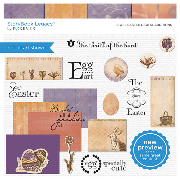 Jewel Easter Digital Additions Digital Art - Digital Scrapbooking Kits