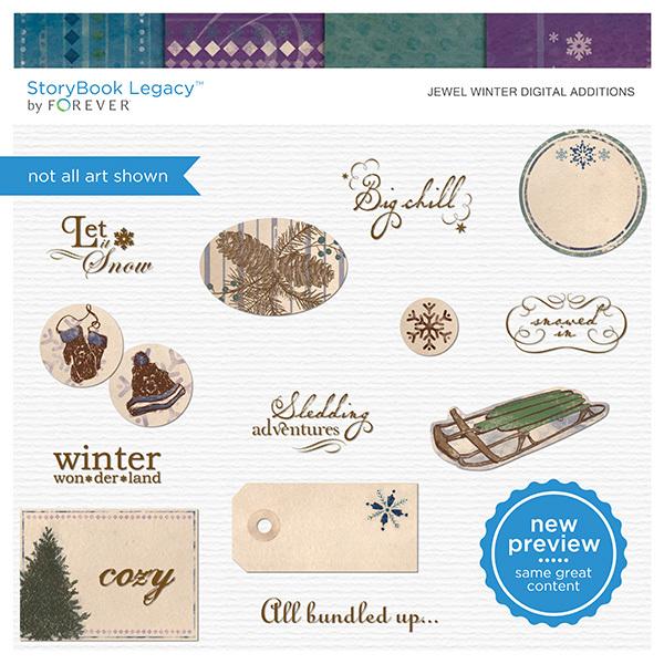 Jewel Winter Digital Additions Digital Art - Digital Scrapbooking Kits