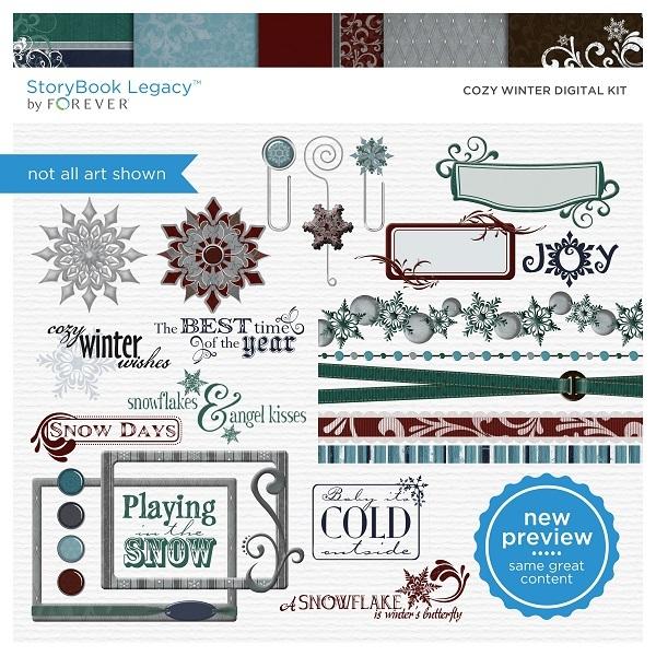 Cozy Winter Digital Kit Digital Art - Digital Scrapbooking Kits