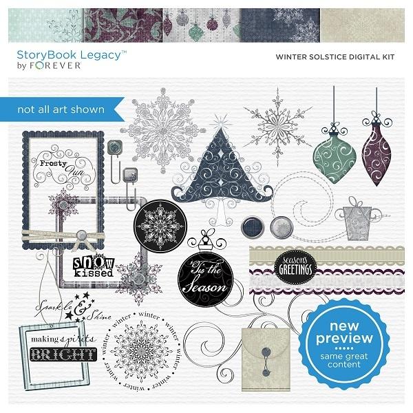 Winter Solstice Digital Kit Digital Art - Digital Scrapbooking Kits