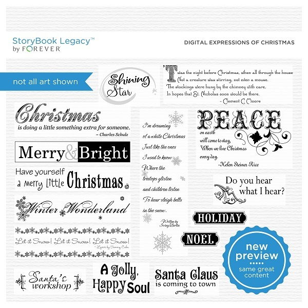 Digital Expressions Of Christmas Digital Art - Digital Scrapbooking Kits