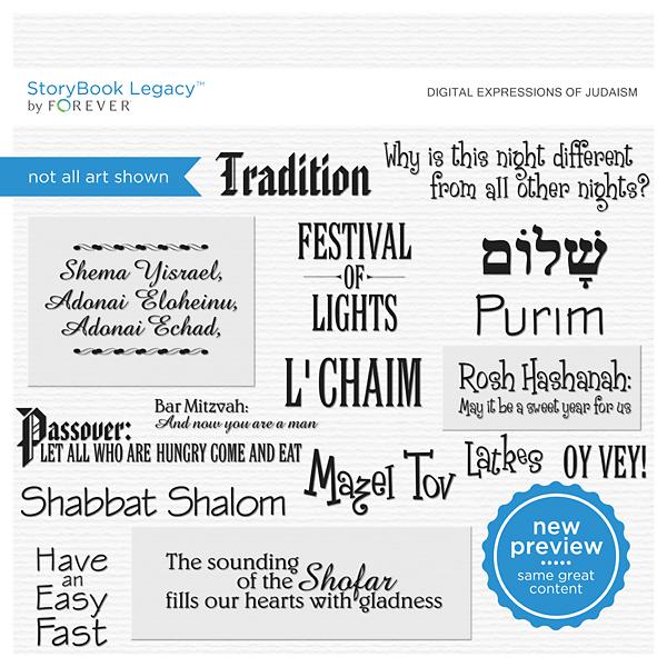 Digital Expressions Of Judaism Digital Art - Digital Scrapbooking Kits